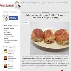 Pains au chocolat méthode escargot (SoniaB)