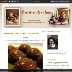 Dôme chocolat au coeur de framboise - L'atelier des Anges