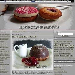 Dôme chocolat et insert framboise - La petite cuisine de Framboisine