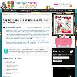 Mug Cake Chocolat à la française prêt en 5 minutes