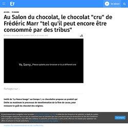 """Au Salon du chocolat, le chocolat """"cru"""" de Frédéric Marr """"tel qu'il peut encore être consommé par des tribus"""""""