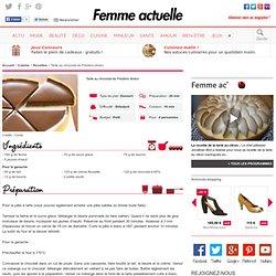 Tarte au chocolat de Frédéric Anton - Recettes
