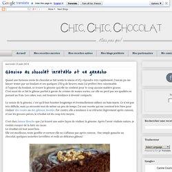 Génoise au chocolat inratable et sa ganache