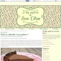 Tarte au chocolat { sans gluten }
