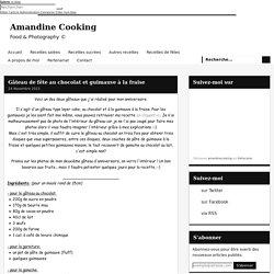 Gâteau de fête au chocolat et guimauve à la fraise - Amandine Cooking