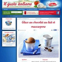 Glace au chocolat au lait et mascarpone Recette Facile