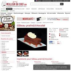 Gâteau praliné/chocolat - Recette de cuisine