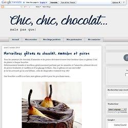 Merveilleux gâteau au chocolat, amandes et poires