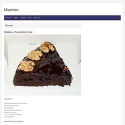 Gâteau chocolat et noix