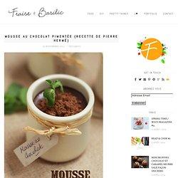 Mousse au chocolat pimentée {recette de Pierre Hermé}