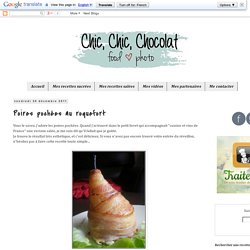 Chic, chic, chocolat...: Poires pochées au roquefort