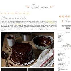 Layer cake au chocolat et praliné