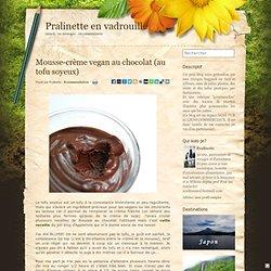 Mousse-crème vegan au chocolat (au tofu soyeux) - Pralinette en vadrouille