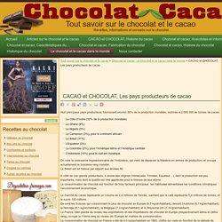 CACAO et CHOCOLAT, Les pays producteurs de cacao « Tout savoir sur le chocolat et le cacao
