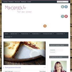 Tarte poires et chocolat - Recette facile - Marciatack.fr