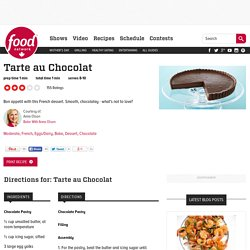Tarte au Chocolat Recipes