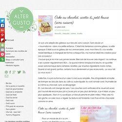 Cake au chocolat, ricotta & petit beurre (sans cuisson) -