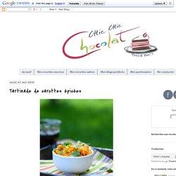 Chic, chic, chocolat...: Tartinade de carottes épicées