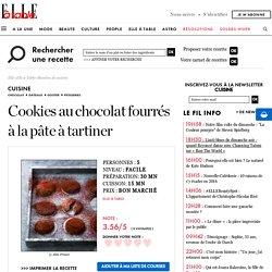 Cookies au chocolat fourrés à la pâte à tartiner pour 5 personnes