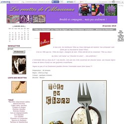 """""""Tête au Chocolat"""" ou """"Tête de nègre"""" ou """"Choco Küsse"""" traduisez ...Bisous en Chocolat"""" - Les recettes de l'Alsacienne"""