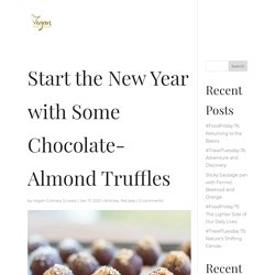 Start the New Year with Some Chocolate-Almond Truffles