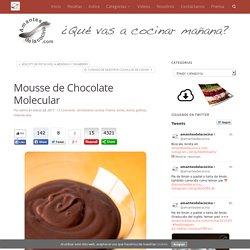 Mousse de Chocolate Molecular - amantesdelacocina