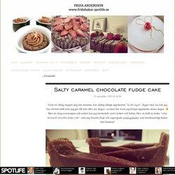 Salty caramel chocolate fudge cake