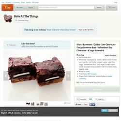Slutty Brownies Cookie Oreo Chocolate Fudge by BakeAllTheThings