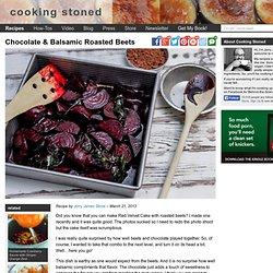Chocolate & Balsamic Roasted Beets - Vegan Recipe