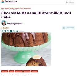 Chocolate Banana Buttermilk Bundt Cake