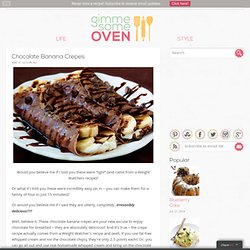 chocolate banana crepes | gimme some oven