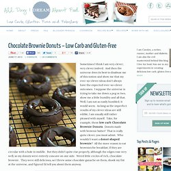 Low Carb Chocolate Brownie Donut Recipe