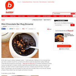 Mini Chocolate Bar Mug Brownie