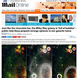 Just like the chocolate bar, the Milky Way galaxy is 'full of bubbles', say scientists