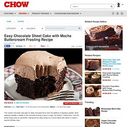 Easy Chocolate Sheet Cake with Mocha Buttercream Frosting Recipe
