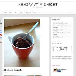 Chocolate mug cake -Hungry at Midnight