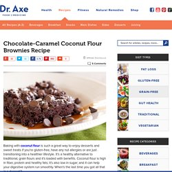Chocolate Caramel Coconut Flour Brownies