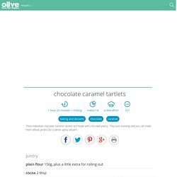 Chocolate caramel tartlets recipe
