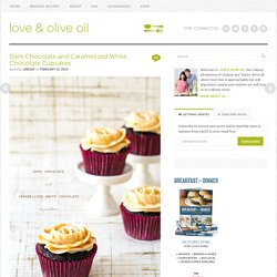 Dark Chocolate and Caramelized White Chocolate Cupcakes