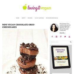 Mini Vegan Chocolate Oreo Cheesecakes - Loving It Vegan