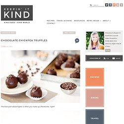 Chocolate Chickpea Truffles - Keepin' It Kind