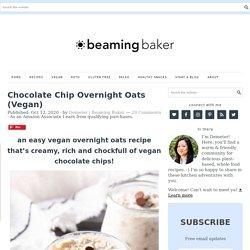 Chocolate Chip Overnight Oats (Vegan)