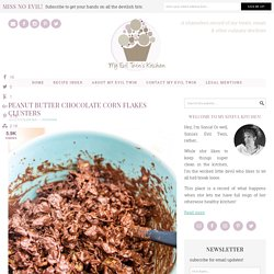 Peanut Butter Chocolate Corn Flakes Clusters