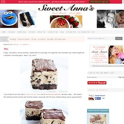 fudgy chocolate chip cookie dough brownies | Sweet Anna's