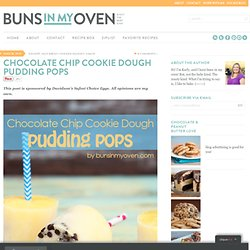 Chocolate Chip Cookie Dough Pudding Pops