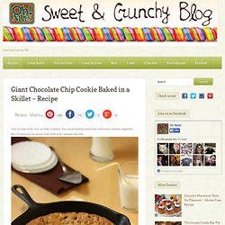 Giant Chocolate Chip Cookie Baked in a Skillet - Recipe (Oh Nuts Blog)