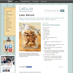 Chocolate Chip Cookies / Bakverk ~ Recept