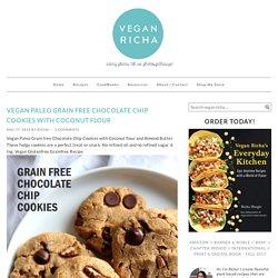 Vegan Paleo Grain free Chocolate Chip Cookies with Coconut flour - Vegan Richa