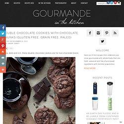 Double Chocolate Cookies with Chocolate Chunks (Gluten Free, Grain Free, Paleo)