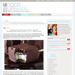 Chocolate Covered Brownie Ice Cream Sandwich Recipe